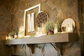 Rustic Mantel Decor Wedding Ceremony Mantle Decor Elizabeth Anne Designs The