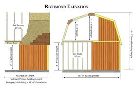 2 story storage shed with loft 16 x 24 floor plan small house 6 best barns richmond 16x32 wood storage shed kit