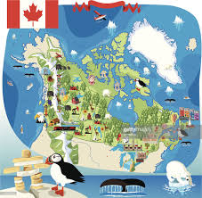 Maps Of Canada by Cartoon Map Of Canada Vector Art Getty Images