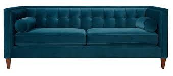 Tufted Sofa Velvet by Amazon Com Jennifer Taylor Home Sofa Satin Teal Velvet Hand