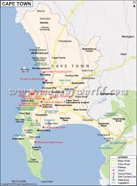 Spain On A World Map by Cape Town Map Map Of Cape Town City South Africa