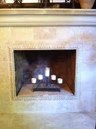 Fireplace Refacing Kits by Fireplace Reface With Tumbled Marble Over Existing Brick