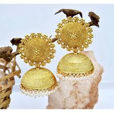 big jhumka gold earrings big stud gold jhumkas