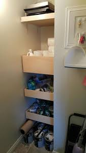 Kitchen Cabinets Slide Out Shelves by Best 25 Shelves That Slide Ideas On Pinterest Bathroom Under