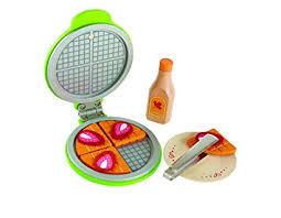 Kitchen Play Accessories - amazon com hape instant waffles kid u0027s wooden kitchen play food