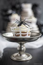 Halloween Cake Stands Paper Spider Halloween Cupcake Toppers Lia Griffith