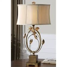 uttermost alenya burnished gold metal accented table lamp 26337 1