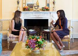 white house tours obama michelle obama and melania trump meet at white house people com