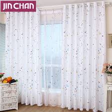 Pottery Barn Ruffle Blackout Panel by Star Moon Printed Finished Blackout Curtains For Kids Children