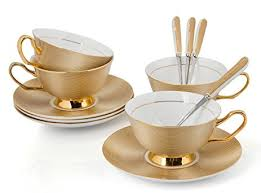 tea cup set porcelain tea cup and saucer coffee cup set golden