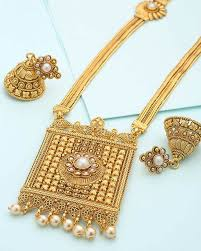 long gold necklace sets images Buy designer necklace sets traditional long classic square jpg