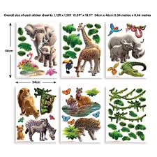 walltastic multi color jungle adventure wall stickers multi color jungle adventure wall stickers