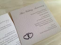 Silver Wedding Invitations 60 P Each 25th Silver Wedding Anniversary Invitations