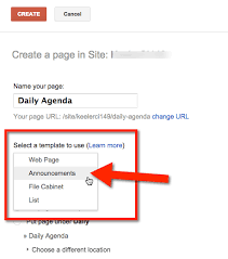 Google Sites File Cabinet Google Sites Creating A Blog Style Page Teacher Tech