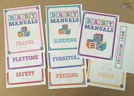 baby manual binder free printables bugaboocity