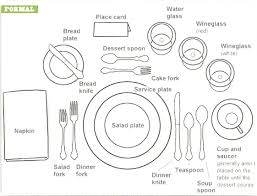 Informal Table Setting by Table Setting Diagram Creative Information About Home Interior