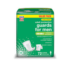 incontinence pads for men 72 count rite aid