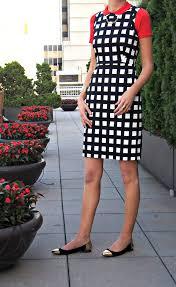 black and white check stretch sheath kate spade lorelei dress