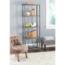 altra furniture wildwood rustic gray open bookcase 1317096 the