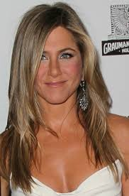 same haircut straight and curly jennifer aniston long hairstyle straight hair with curly parting
