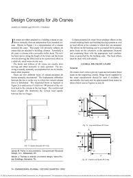design concept for jib crane crane machine bending