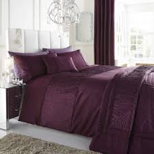 bedding pretty plum bedding purple colour stylish textured faux