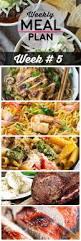 weekly meal plan 5 homemade hooplah