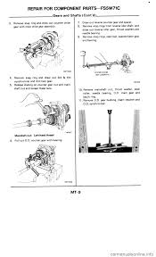 nissan 300zx 1986 z31 manual transmission workshop manual