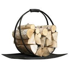 modern design fireplace log holder making a fireplace log holder