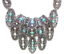 turquoise stone necklace bohemian metal turquoise stone necklace u2013 kay k couture