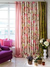 Beige And Pink Curtains Decorating Home Decorating Ideas Home Improvement Cleaning Organization