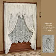 White Lace Shower Curtain by Decorations Swag Valances Black Window Valances And Swags