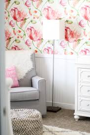 modern floral baby nursery positively oakes