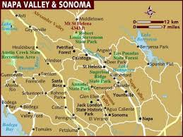 map usa lonely planet map of napa valley