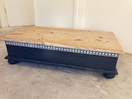 Solid Pine Ottoman Solid Pine Ottoman Coffee Table Chest Trunk In Whitchurch