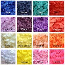 silk petals silk flower petals for wedding 500 silk petals 17 colors
