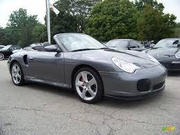 grey porsche 911 convertible 2004 seal grey metallic porsche 911 turbo cabriolet 15475236