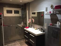 salle de bain aubergine et gris avant après salle de bain gris et rose fushia à l