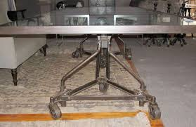 Cool Table Ls Home Design Exquisite Industrial Dining Table On Wheels 1209346