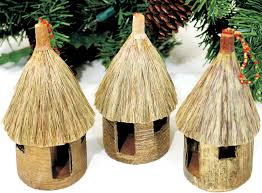 authentic african banana leaf ornaments huts