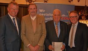 Bad Bramstedt News Reimer Böge Ehrt Claus Bornhöft Und Udo Gandecke Cdu Ortsverband