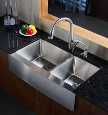Stainless Steel Apron Front Kitchen Sinks 33 Inch Stainless Steel Curved Front Farm Apron 60 40 Bowl