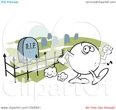 graveyard clipart royalty free rf clip art illustration of a moodie character