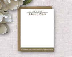personalized notecards personalized stationery personalized stationery for men