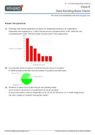grade 8 math worksheets and problems data handling basic charts