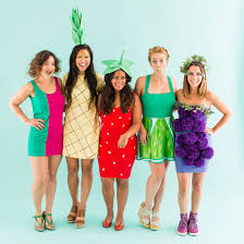 halloween mask vine how to be a fruit salad with your squad for halloween brit co
