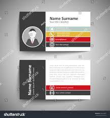modern simple business card template vector stock vector 246376387