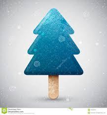 blue christmas tree ice cream stock vector image 47829418