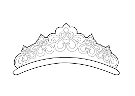 beautiful tiara coloring page for girls printable free things