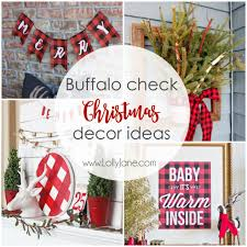 buffalo check christmas decor ideas lolly jane